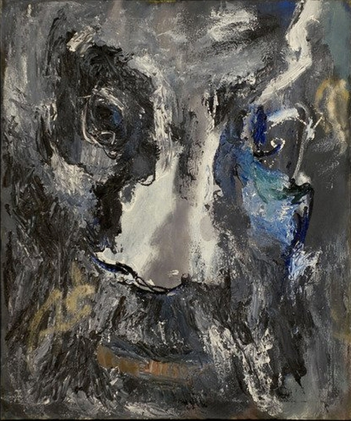 Albert Kotin Head c1968. Oil on canvas, 29 3:4 x 36 inches